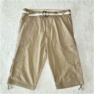 NWOT Plugg Khaki Cargo Shorts Size 31